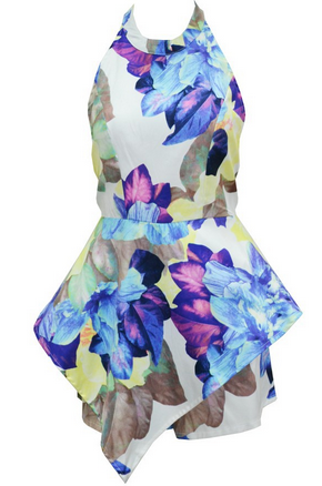 Floral Backless Romper