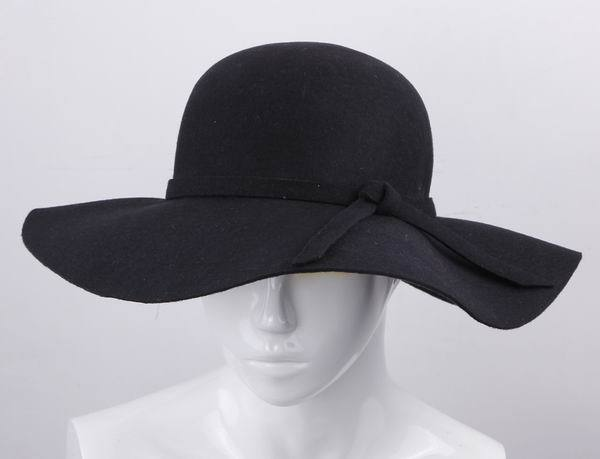 1pc Free Shipping Stylishy Women Wool Floppy Large Wide Brim Cloche Fedora Dress Hat Derby Cap Black-in Fedoras from Apparel & Accessories on Aliexpress.com | Alibaba Group