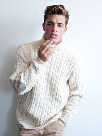 mens sweater elbow patches turtleneck