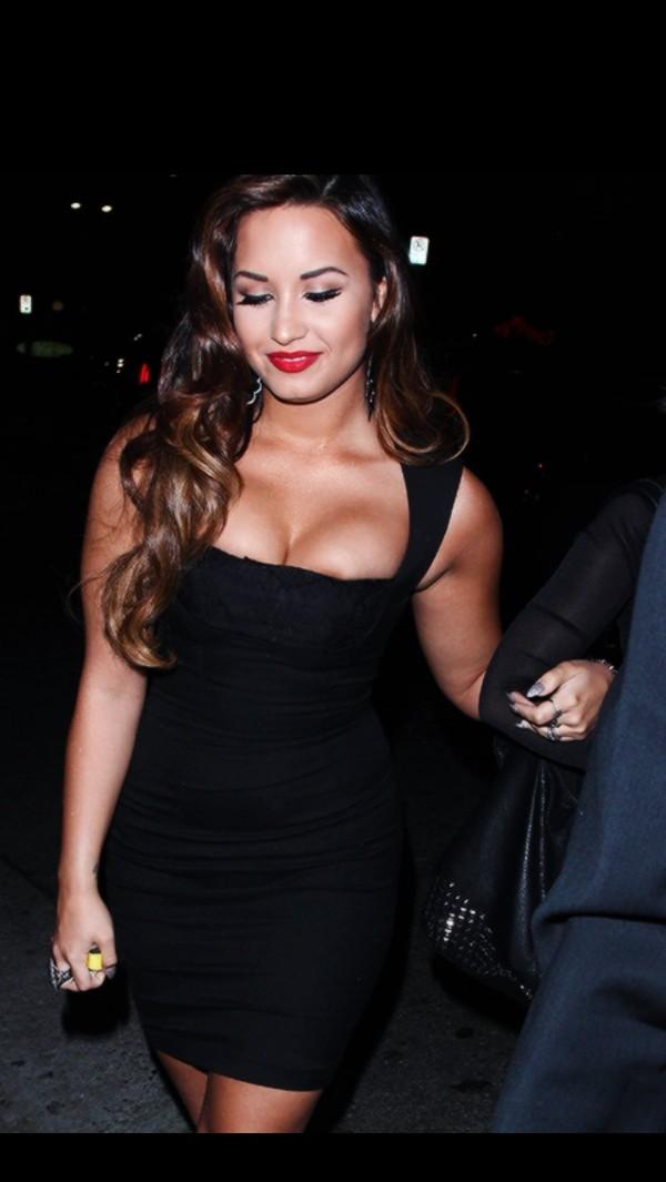 dress black straps party bam pretty lace sexy demi