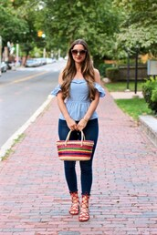 lamariposa,blogger,top,jeans,shoes,bag,sunglasses