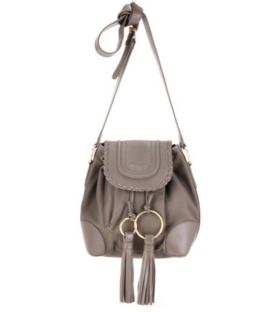 See By Chloé Leather Crossbody Bag in grey