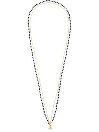 women necklace diamond necklace blue jewels