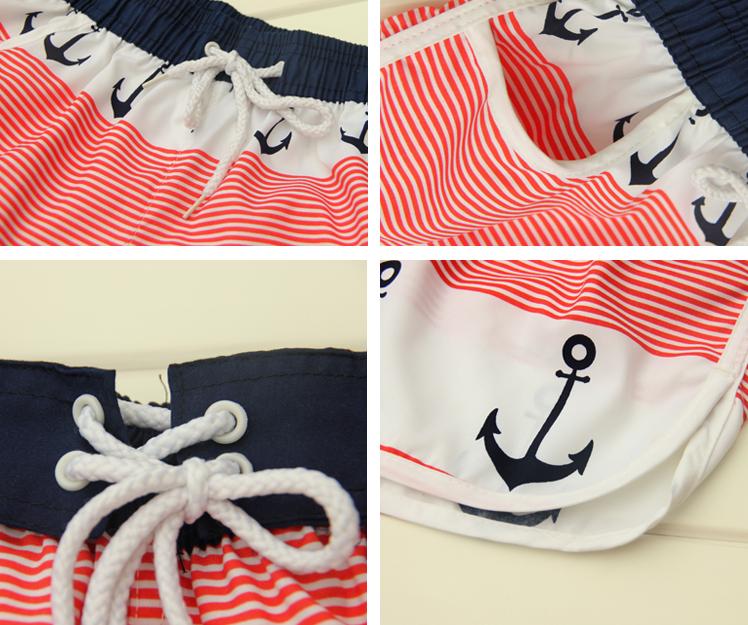 Anchor pattern beach holiday shorts for couple / shopflouro