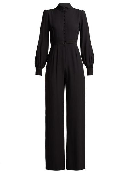 Goat - Forte Wide Leg Crepe Jumpsuit - Womens - Black