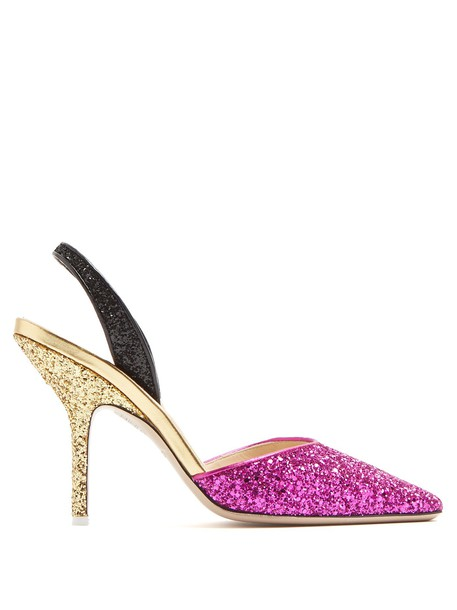 Attico glitter pumps shoes