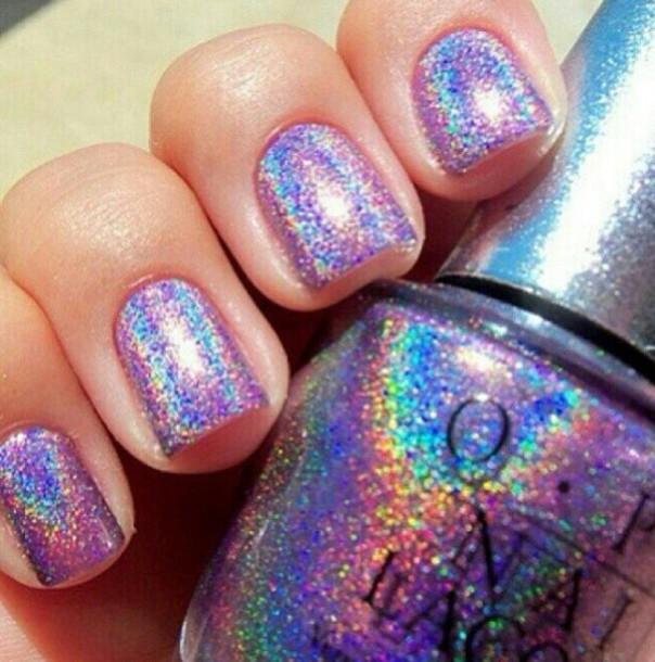 Nail Polish, Holographic, Rainbow, Glitter, Sparkle, Opi