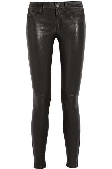 J Brand|Stretch-leather skinny pants|NET-A-PORTER.COM
