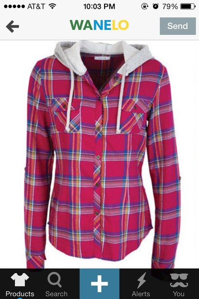 Shirt: blouse, jacket, sweater, hoodie, flannel, plaid - Wheretoget