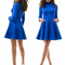 Women's sunday gorgeous suede polo neck shift dress