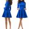 Women's sunday gorgeous suede polo neck shift dress