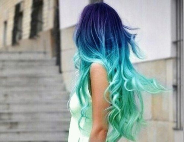 hat hair curly hair turquoise i love this hair accessory any beauty shop love this hai body shop ombre what hair dye is this? hair dye blue hair t-shirt blue denim cotton hairstyles ombre style me colorful hairstyles pastel hair ombre hair