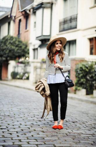 dress corilynn blogger top jeans coat bag hat sunglasses crossbody bag trench coat fall outfits