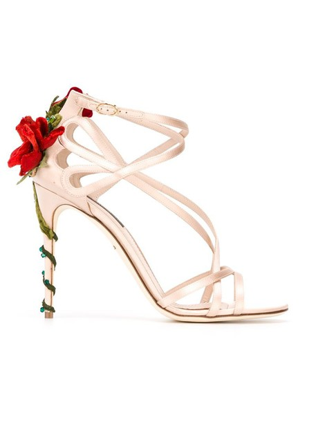 rose women sandals leather silk purple pink shoes