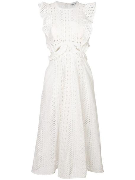 self-portrait dress women white cotton
