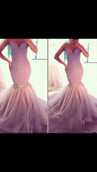 dress mermaid dresses light purple evening dress