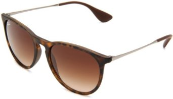 Amazon.com: Ray-Ban RB4171 Erika Round Sunglasses 54 mm, Non-Polarized, 865:Havana Rubber/13:Brown Gradient: Ray-Ban: Clothing