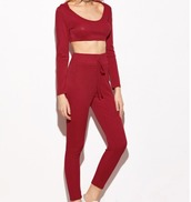 girl,girly,girly wishlist,red,crop,crop tops,cropped,joggers,two-piece,matching set,sweatpants,high waisted