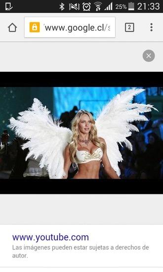 underwear victoria's secret candace swaenpool victoria's secret model pink by victorias secret angel wings costume sexy wings hot wings white