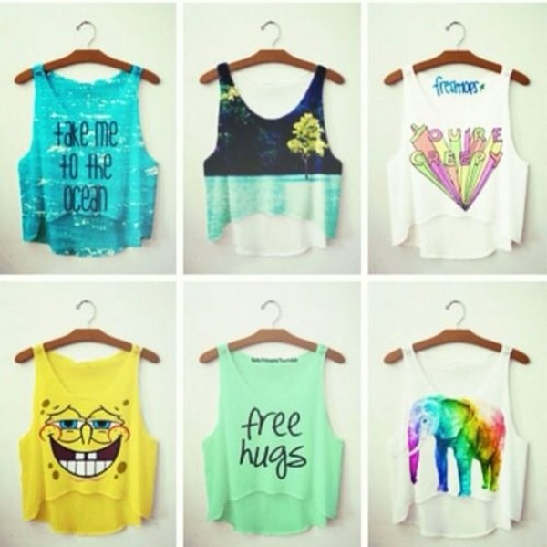 shirt cute clothes summer tank top tank top crop tops summer top colorful creepy white green purple top lovely hipster t-shirt cool shirts shirt printed shirt printed shirt t-shirt top blue shirt style fashion