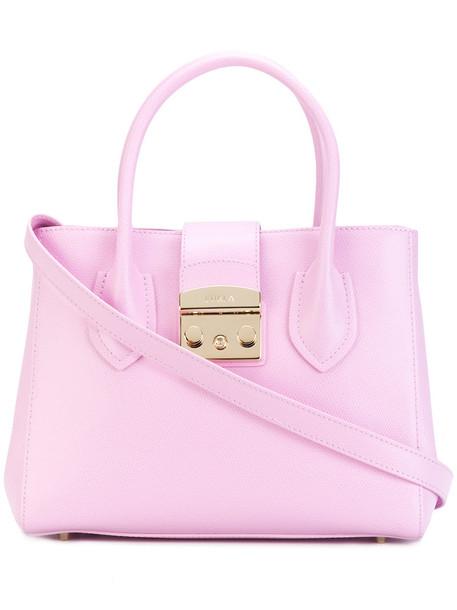 Furla - Metropolis tote - women - Leather/Nylon/Viscose - One Size, Pink/Purple, Leather/Nylon/Viscose