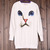 Women Chic Casual Blue Eyes Cat Face Print Trendy Knitted Sweater Jumper Jersey