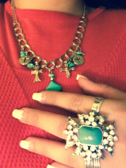 jewels ring turquoise jewelry necklace silver jewelry