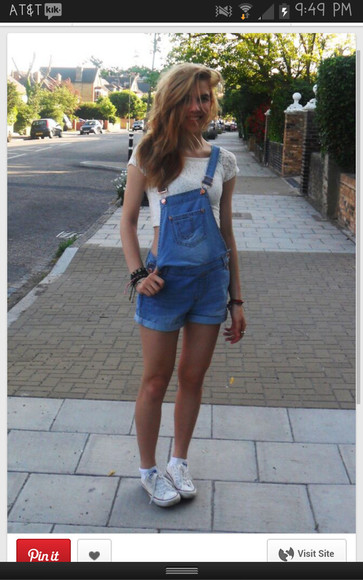 denim romper shorttalls overalls jumpsuit