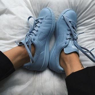 shoes blue trainers pastel
