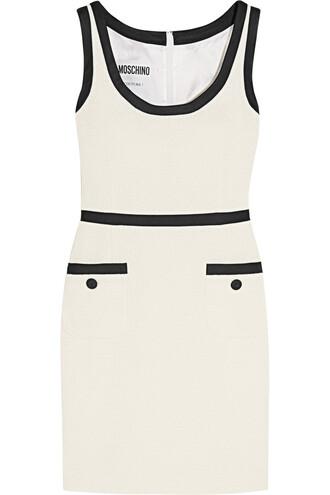 dress mini dress mini cotton satin white off-white