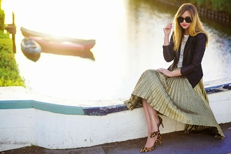late afternoon shoes sunglasses jacket skirt t-shirt