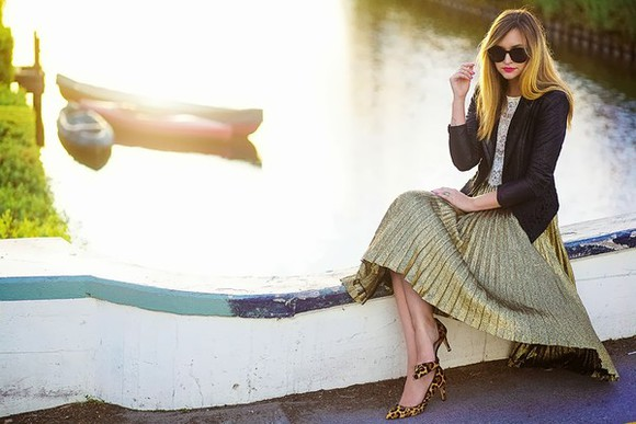 late afternoon shoes sunglasses jacket t-shirt skirt