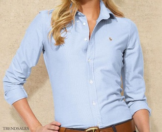 shirt blue white ralph lauren cotton fake