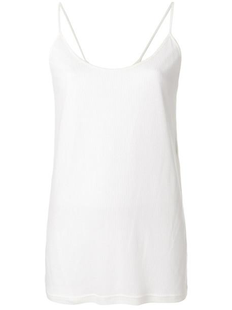 Ann Demeulemeester - Shiloh top - women - Cotton/Lyocell - 40, White, Cotton/Lyocell