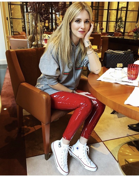 pants chiaraferragni leggings red