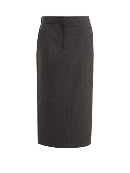 Raey - Elasticated Back Wool Blend Skirt - Womens - Grey