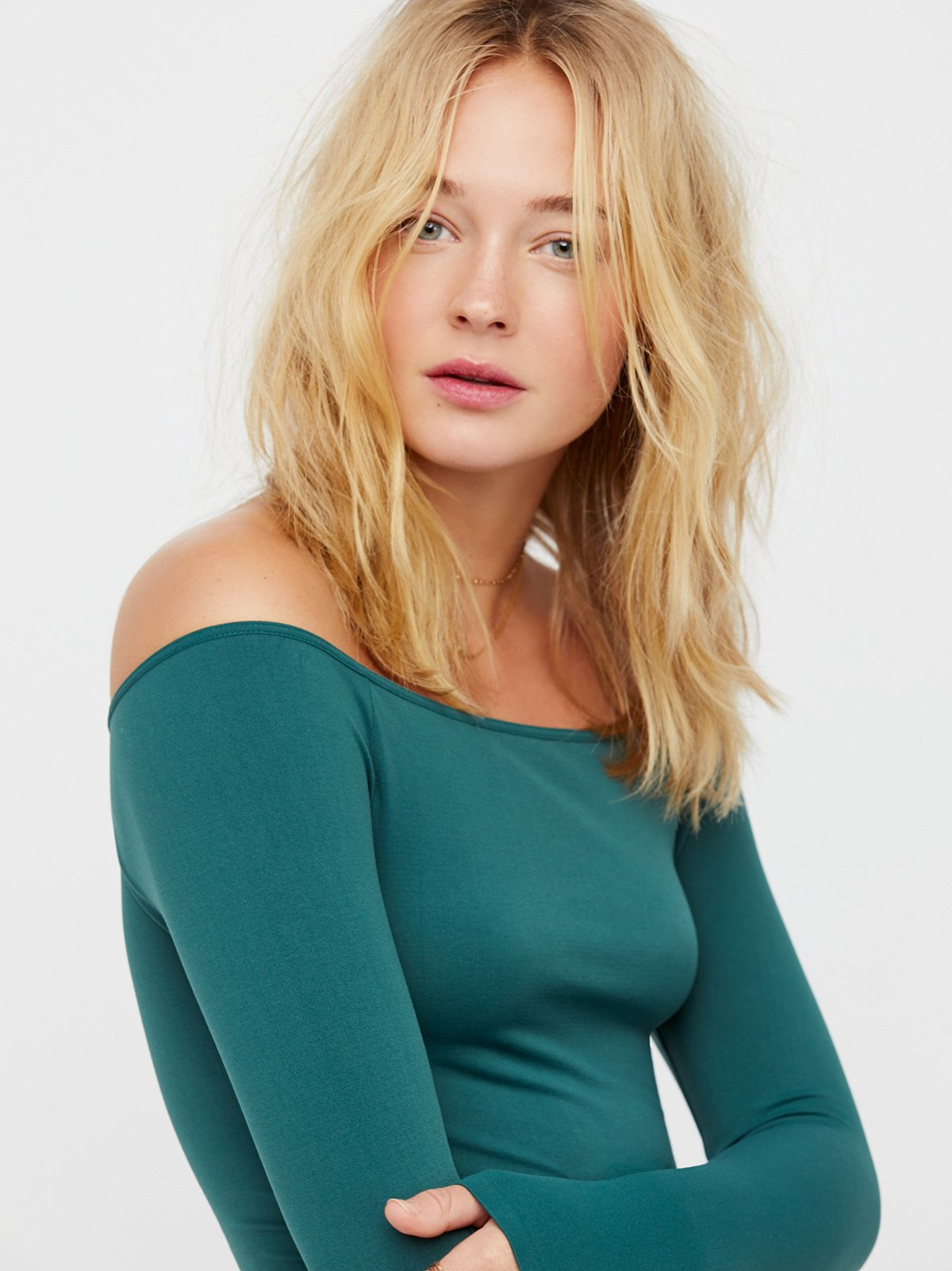 Free People Off the Shoulder Solid Top