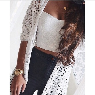 top white top white jeans shirt outfit pants black cardigan sweater winter outfits