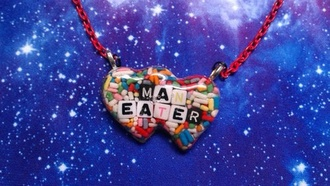 jewels necklace chain man eater necklace eye candy heart