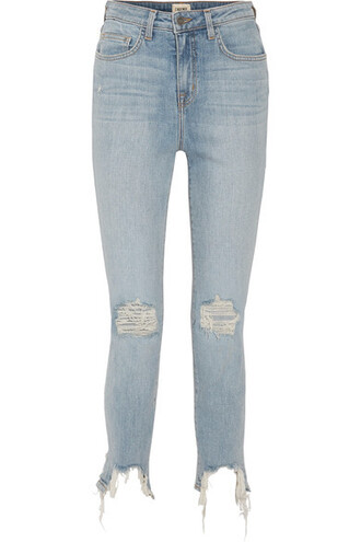 jeans skinny jeans denim cropped high light