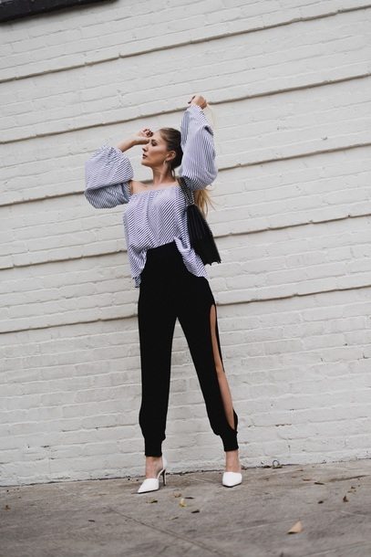 pants joggers jogger dress pants leg slits dressy