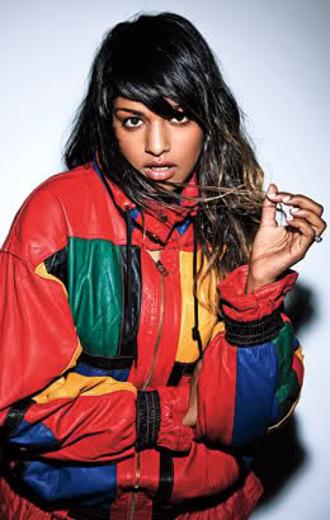 jacket m.i.a. multicolor 90s style windbreaker black girls killin it