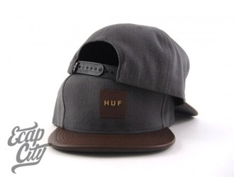 hat huf gray snapback leather snapback mens accessories gift ideas