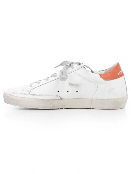 Golden goose sneakers orange shoes