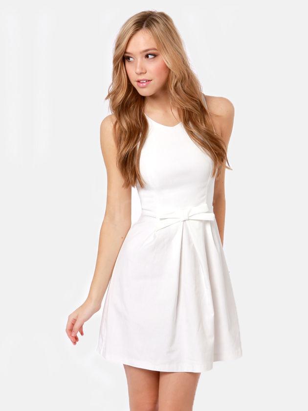 381cf3e16bd Buy Gorgeous White A-line Round Neckline Mini Graduation Dress ...