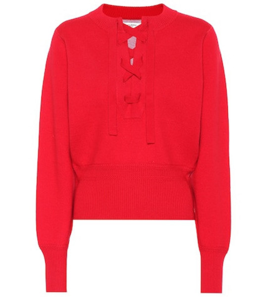 Isabel Marant, Étoile Lace-up sweater in red