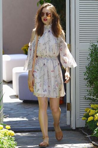 dress summer outfits summer dress lily collins sandals