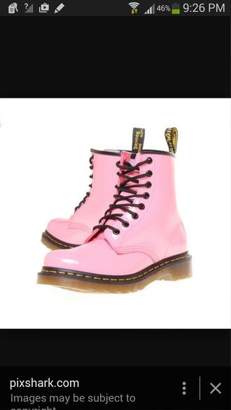 shoes doc. martens boots light pink cute kawaii pink fun