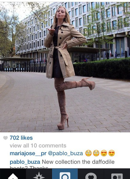 trench coat nude high heels high heels boots christian louboutin sexy shoes high fashion heels luxury knee high boots