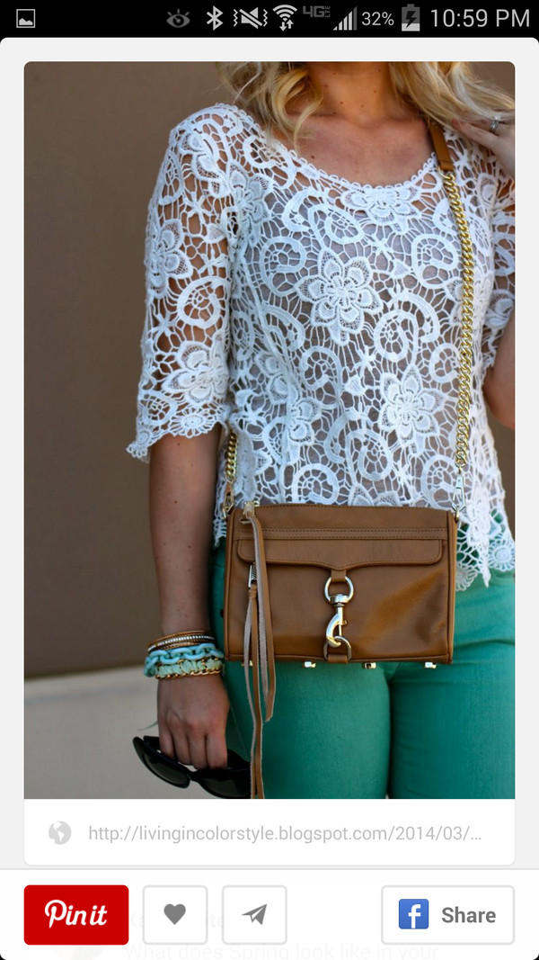 jeans blouse bag jewels